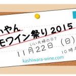 2015年 カタシモワイナリー「おもろいやんカタシモワイン祭り」大阪(11/22 )